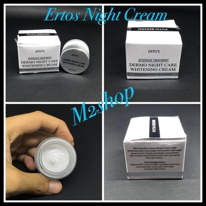 Ertos Night Cream Cream Malam Ertos - Melembabkan Kulit Wajah