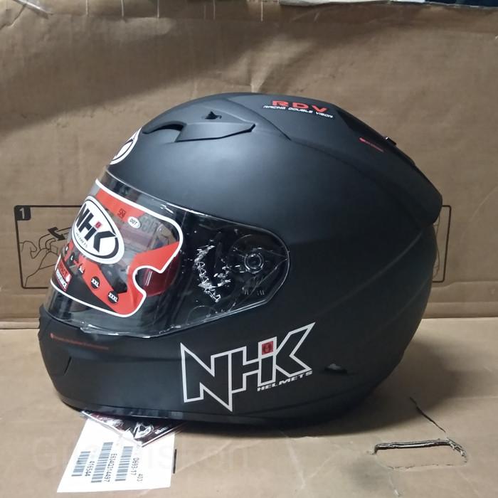 Foto Produk NHK GP1000 solid Helm Full Face Double Visor (SIZE XL) - Hitam Doff dari Gila Diskon
