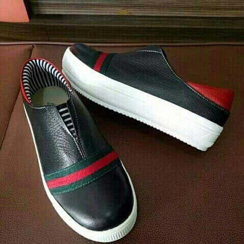 Jual Sepatu Kulit Slip On Wanita Asli Garut model Gucci 3 - Ardaff ... 28efa0f53c