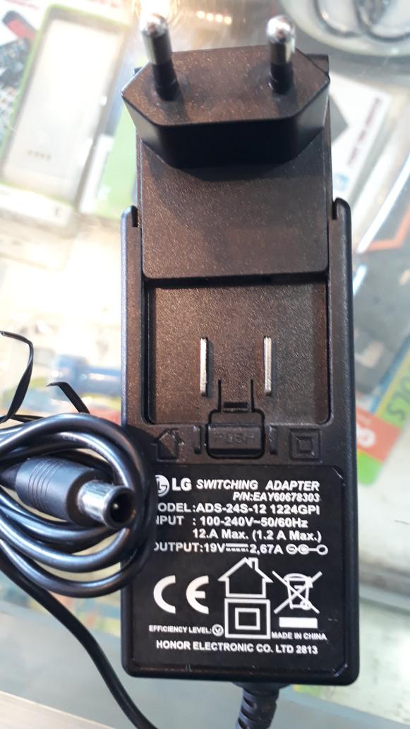 harga [original] adaptor lg 19v - 2.6a untuk monitor/led/lcd/tv 16  - 32 Tokopedia.com