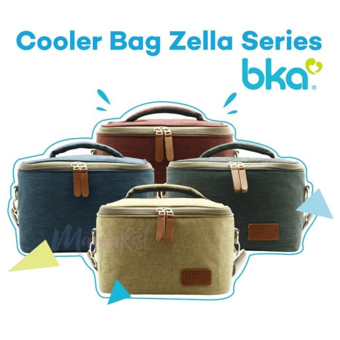 Bka cooler bag zella series free 2 botol kaca asi + 1 ice gel