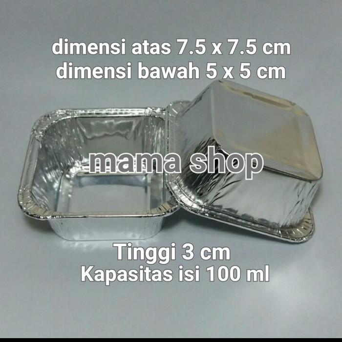 harga Cup aluminium foil untuk macaroni panggang pastel tutup dan lainnya Tokopedia.com