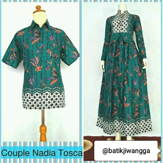 harga Baju couple sarimbit gamis batik nadia tosca busui all size Tokopedia.com