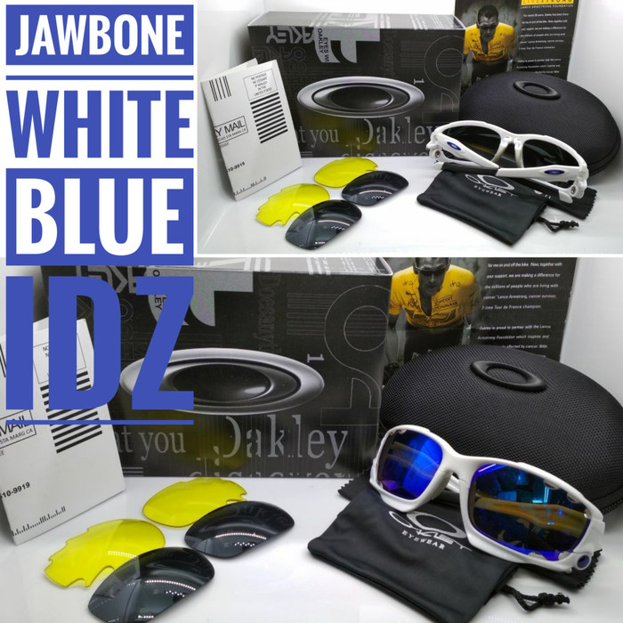 harga Kacamata oakley jawbone white blue lens kacamata sepeda polarized Tokopedia.com
