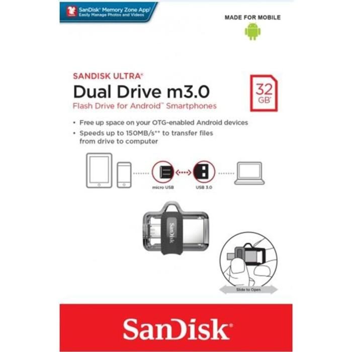 harga Sandisk otg flashdisk 32gb usb 3.0 / flashdisk otg 32gb usb 3.0 Tokopedia.com