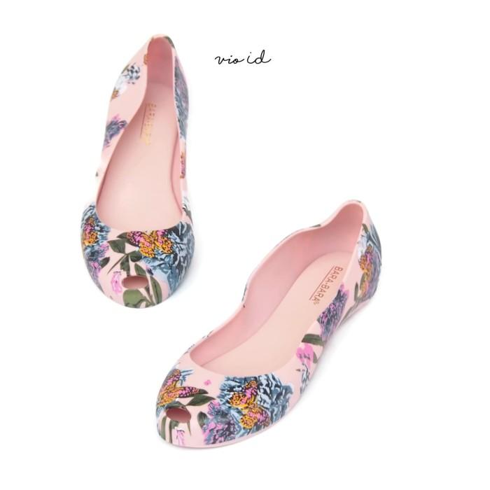 Flat Shoes Jelly Bara Bara Motif Bunga 1838MSB - Titanium, 38