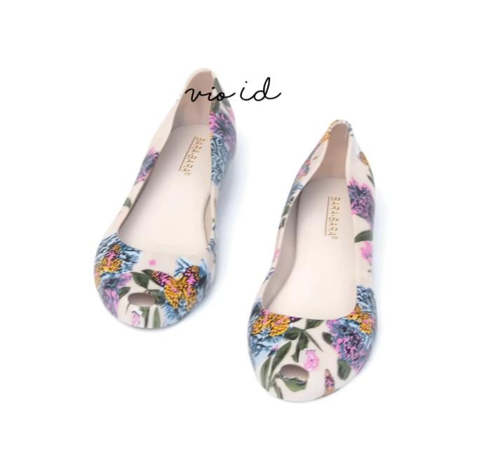 Flat Shoes Jelly Bara Bara Motif Bunga 1838MSB - Titanium, 36
