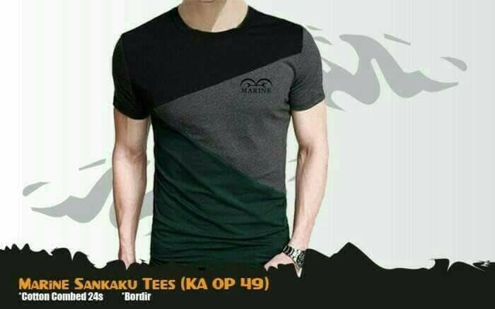 Kaos Anime One Piece Marine SP Casual T-shirt Abu Hitam (KA OP 49