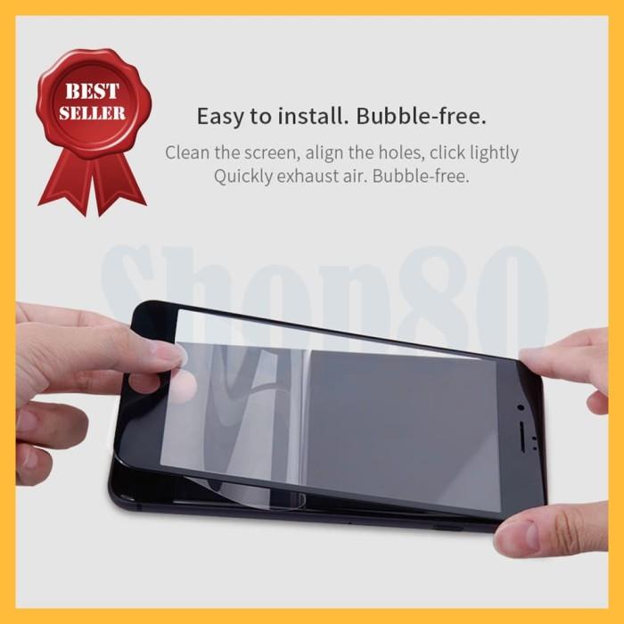 Foto Produk iPhone 7 8 X Plus Tempered Glass 3D Full Cover Curved Screen Guard - Hitam, XS Max dari Super80