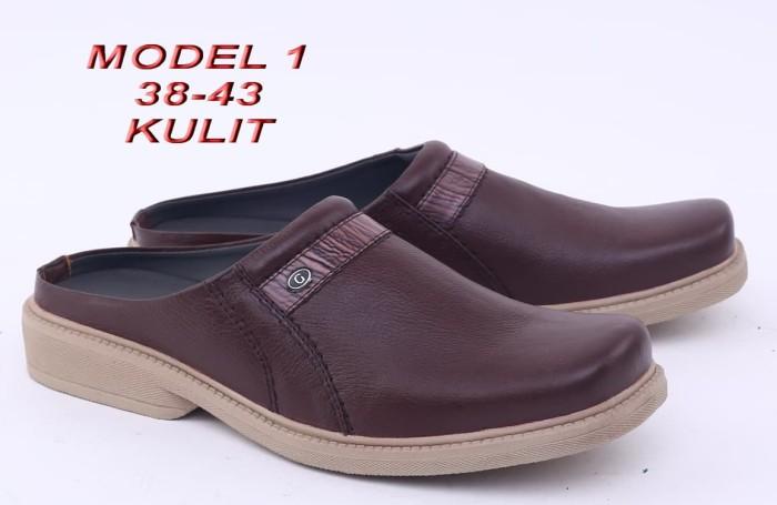 harga Sepatu sandal casual pria kulit [ rai 321 ] Tokopedia.com