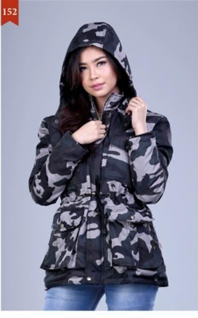 Jual Jaket Wanita Trendy Gf - Jaket Loreng Cewek - Jaket Parka Army ... 9f6dd1dfc7