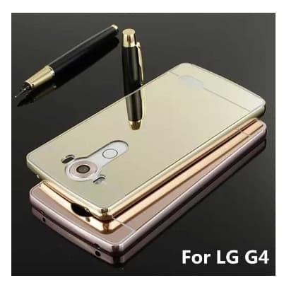 Aluminium Bumper Mirror Case for LG G4 Free Tempered Glass
