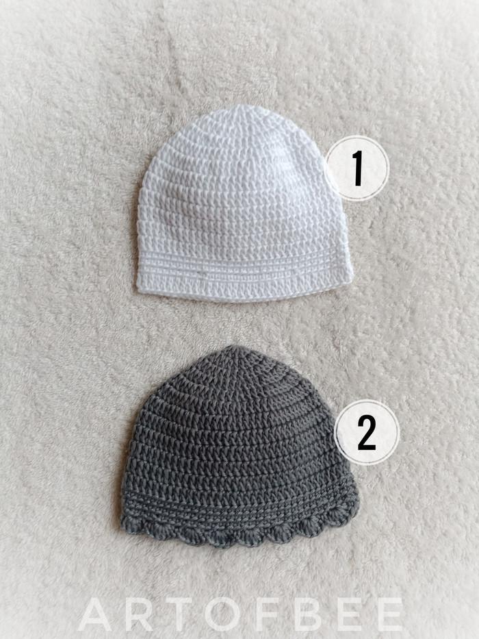 topi rajut bayi 1-5 - 0-3 Bulan