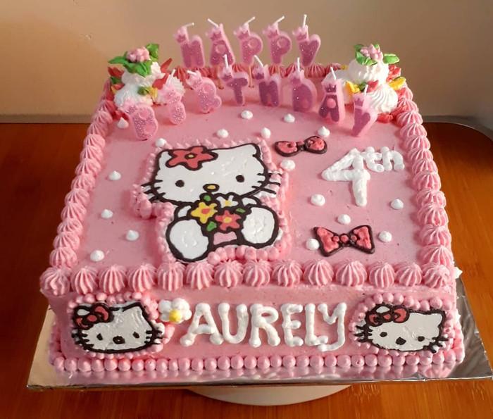 Contoh Gambar Kue Ultah Hello Kitty Ideku Unik