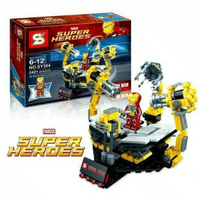 harga Sy 304 bricks lego ironman lab super heroes avengers marvel Tokopedia.com