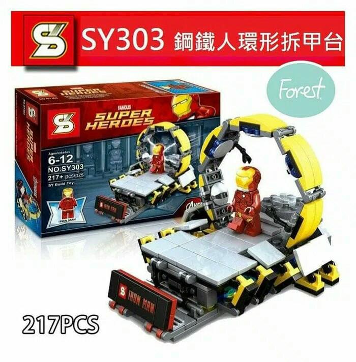 harga Sy 303 bricks lego ironman lab super heroes avengers Tokopedia.com