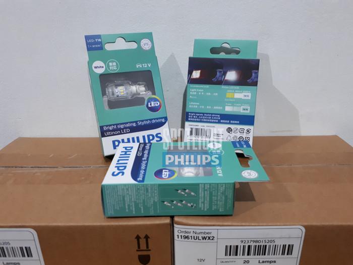 Jual Philips T16 W16w Ultinon Led Lampu Mundur - Putih - Kota Bandung