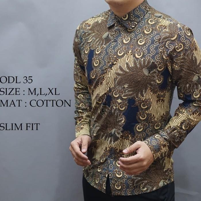Jual Kemeja Batik Pria Slim Fit Dan Slimfit Jas Koko Kaos Shirt