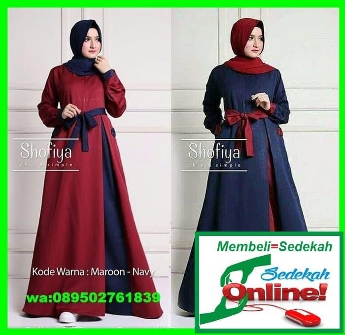 harga Gamis polos dress  jual khimar hijab jilbab instan pashmina segi empat Tokopedia.com