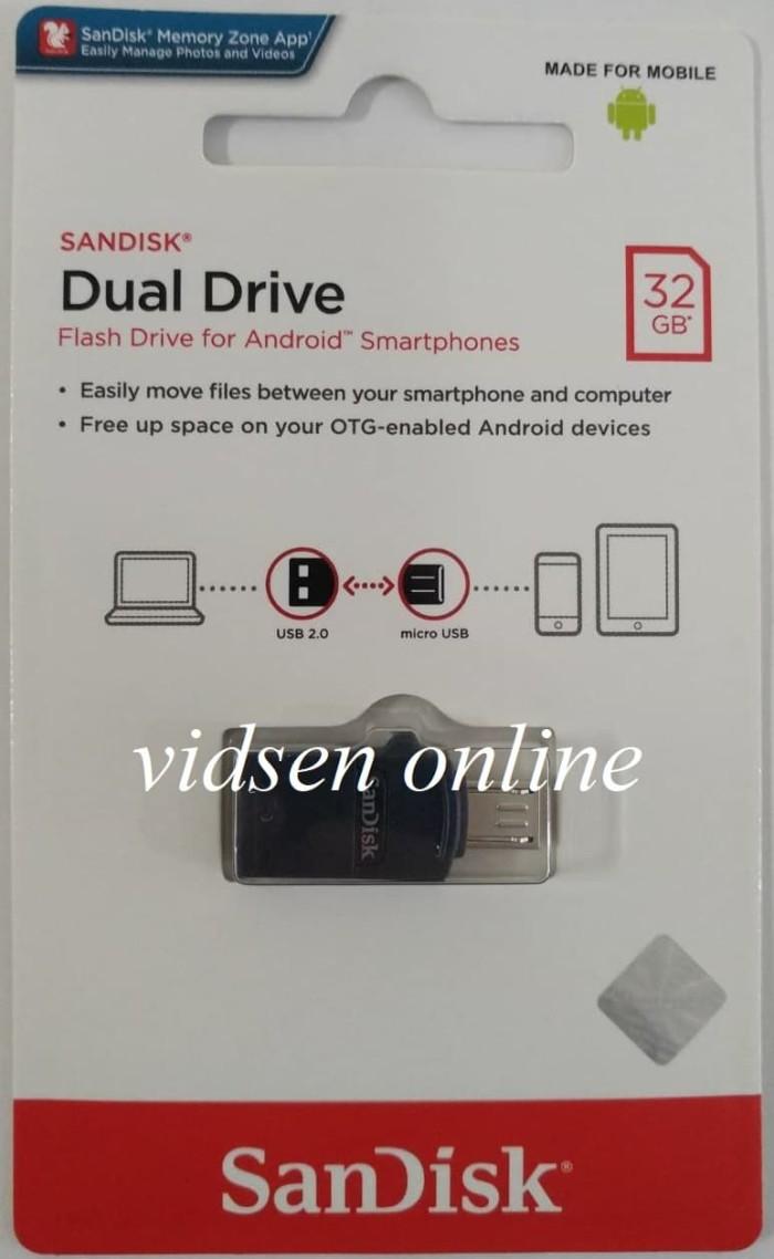 Jual Sandisk Dual Drive Usb 20 Flashdisk Otg 32gb Garansi Resmi Fd Micro