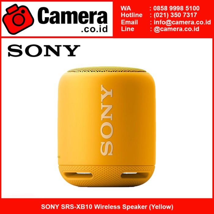 harga Sony srs-xb10 wireless speaker (yellow) Tokopedia.com