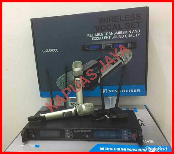 harga Mic microphone wireless sennheiser skm8000 wireless vocal Tokopedia.com