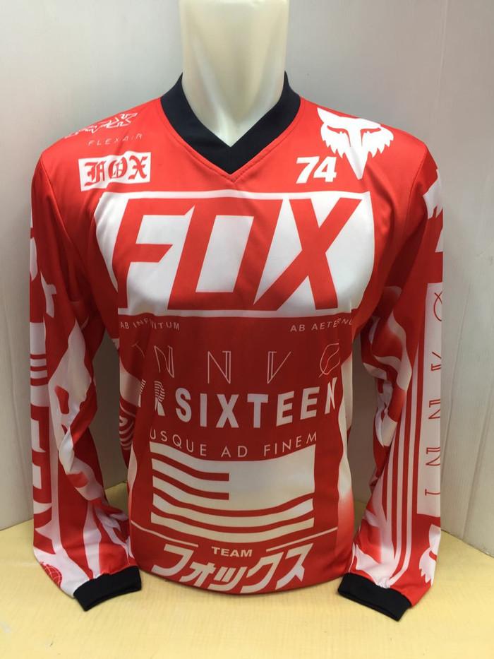 harga Jersey sepeda - baju cross fox merah Tokopedia.com