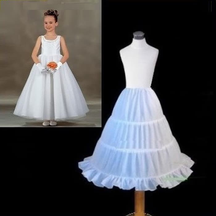 harga Dress gaun kostum pesta anak ring petticoat princess putih Tokopedia.com