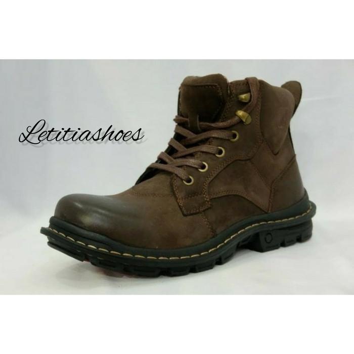 Sepatu Pria Kulit Jim Joker Original Jeruk 1B Casual Boots Coffee - Cokelat Tua, 41