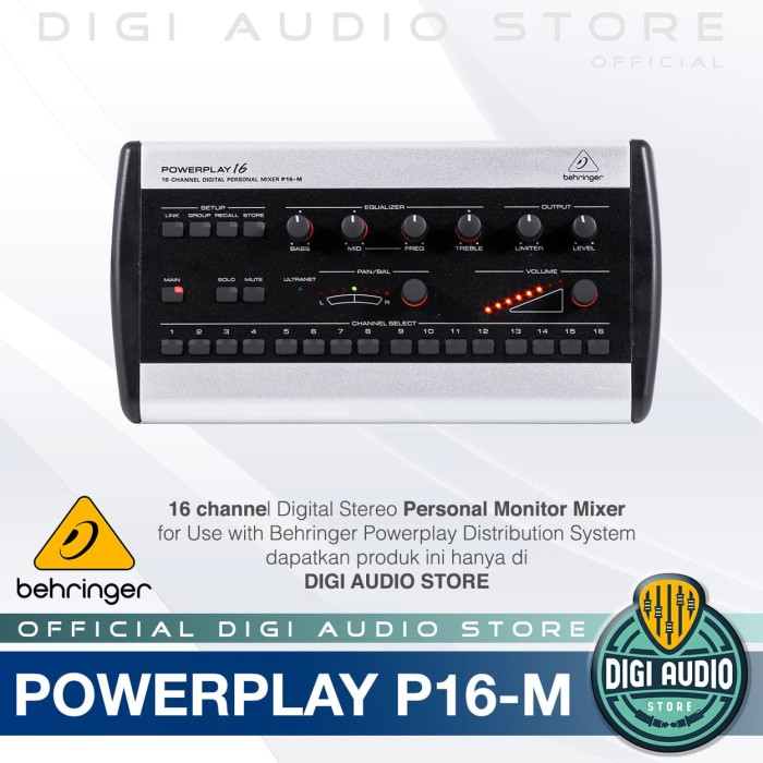 harga Behringer powerplay p16-m ( p 16 m ) digital personal mixer Tokopedia.com