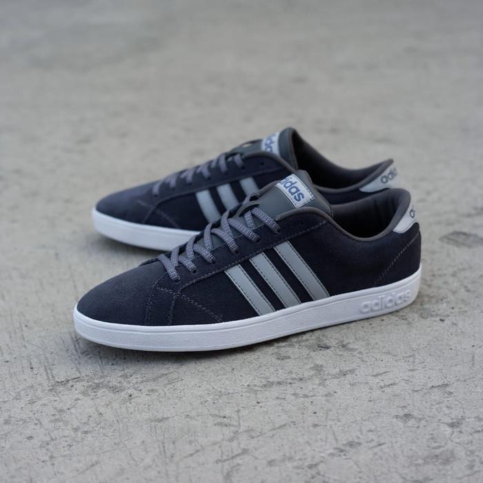 Sepatu Pria Adidas Neo Baseline Suede Black Grey Original Bnwb! 9941e745ef
