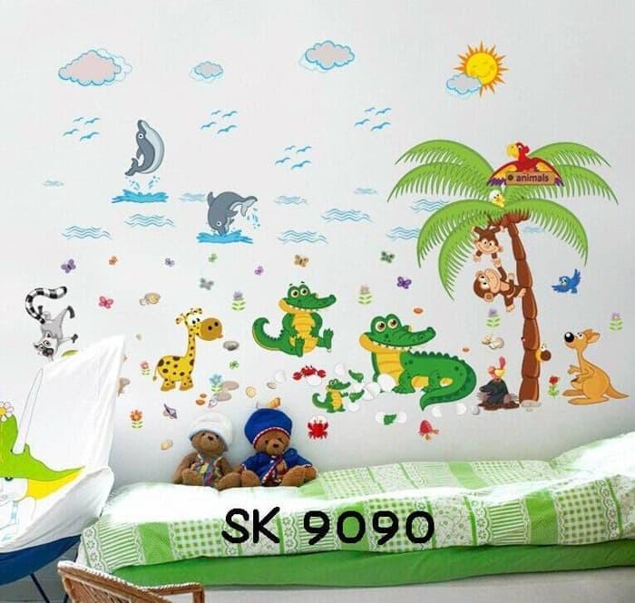 jual wall sticker anak hewan wallsticker binatang stiker dinding