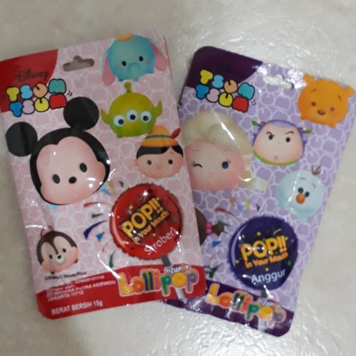Permen lollipop Fizlepop seri Tsum Tsum pop in your mouth 15g