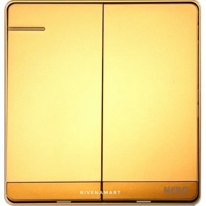 NERO Saklar Seri / Double Decora Q7 Q71621-G Gold