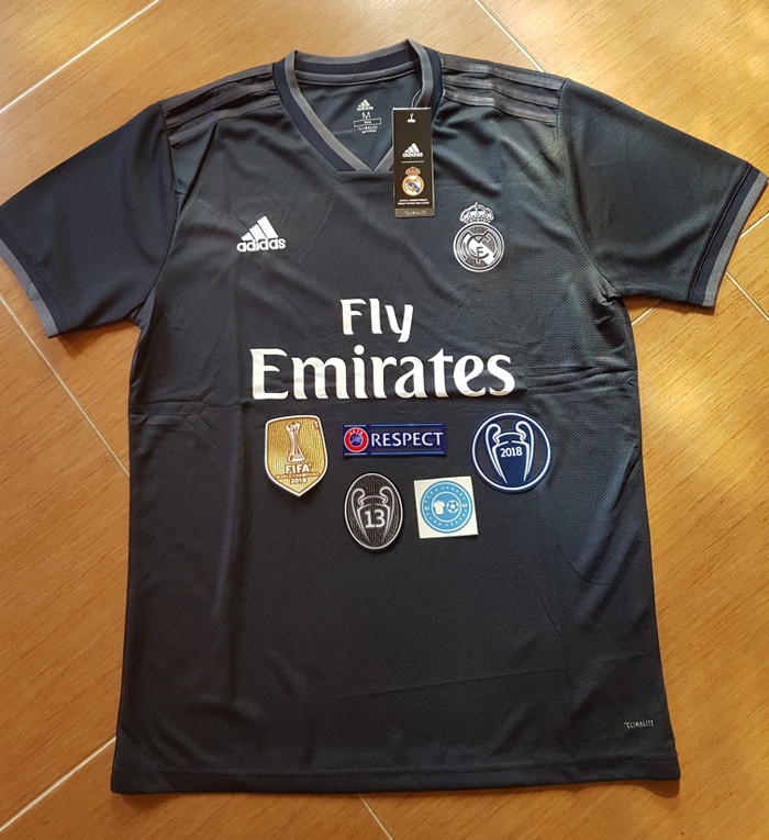 d52d070c6 Jual Jersey Grade Ori Real Madrid Away 2018 2019 Full Patch UCL ...