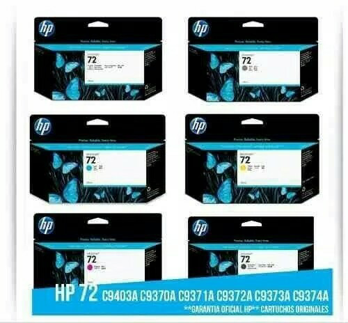 harga Tinta hp plotter 72 original (130ml) Tokopedia.com