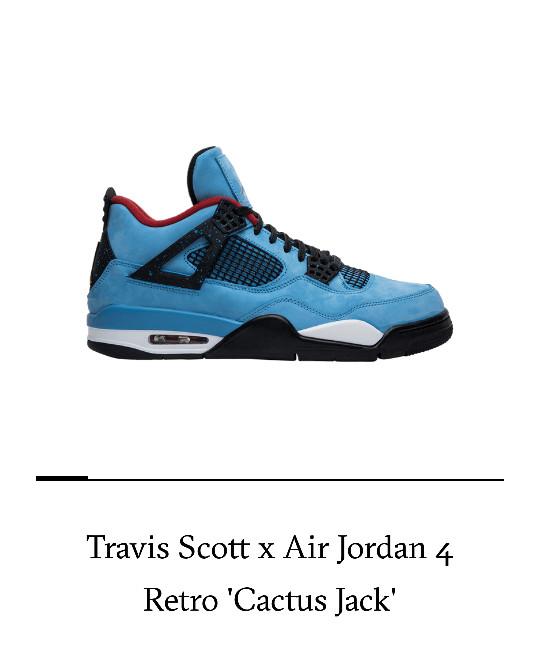 Jual Air Jordan 4 X Travis Scott Cactus Jack Biru Jakarta