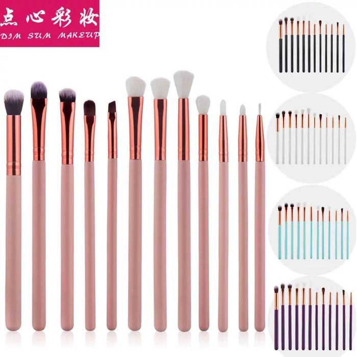 harga 12 pcs kuas make up eye makeup brush set