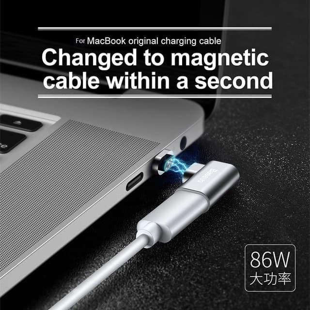 Foto Produk BASEUS Magnetic USB Type c Elbow Adapter Converter Macbook Pro dari HimTech