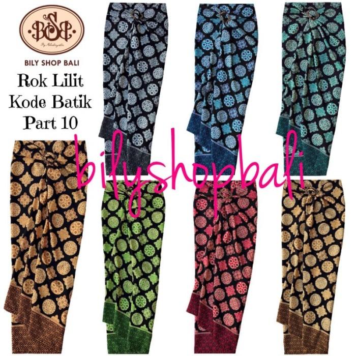 harga BILY SHOP BALI Rok Lilit Kain Serut Batik Part 10 Polyester FreeGesper Tokopedia.com