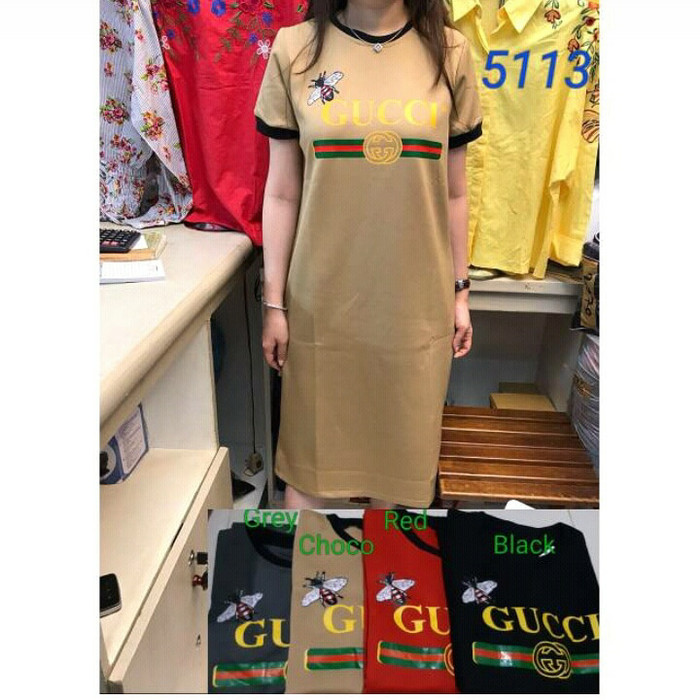 131d797e353 Dress Gucci   Gucci Dress   Dress Gucci Import   Dress Gucci Scuba - Abu  -abu Tua
