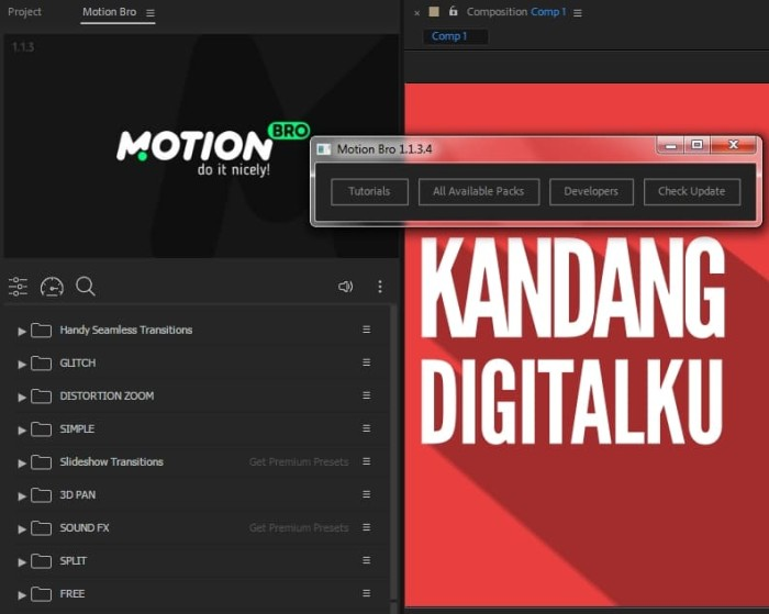 Jual Template Handy Seamless Transitions Adobe After Effects Premiere Pro -  Kab  Pemalang - Kandang Digitalku | Tokopedia
