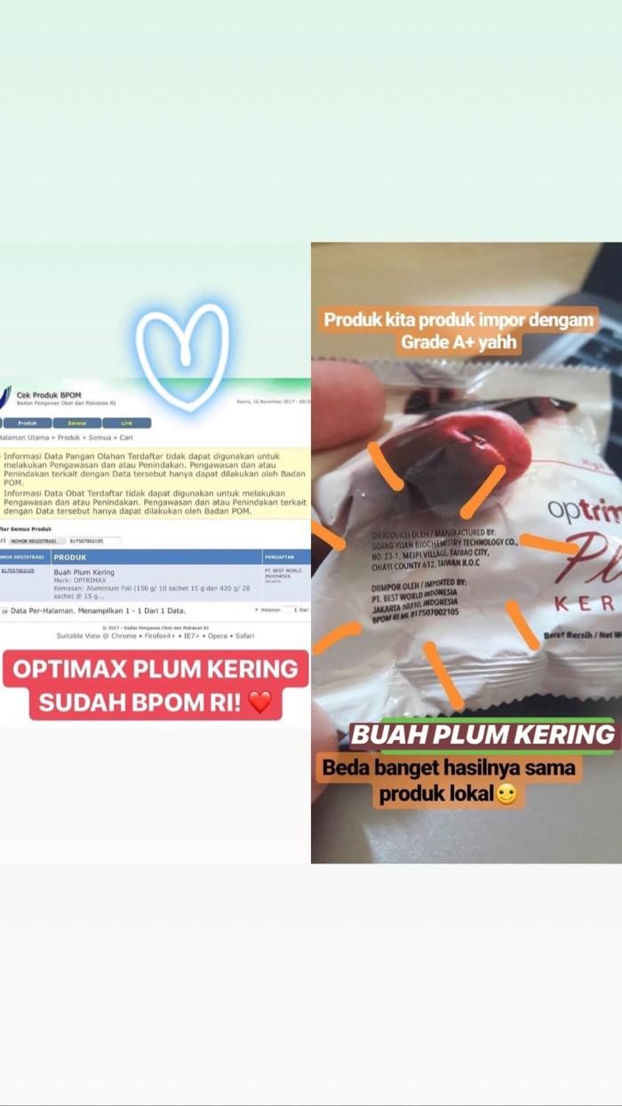 Jual Optrimax Buah Plum Kering 10 Sachets Diet Tokopedia Sachet