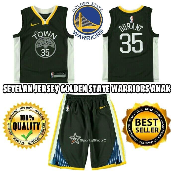 huge selection of 1aa31 6844d Jual JERSEY BASKET NBA ANAK / KIDS GOLDEN STATE WARRIORS HITAM THE TOWN -  Kota Bandung - Sporty Shop ID | Tokopedia