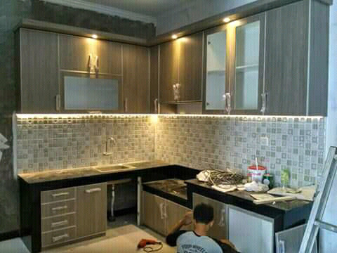 Jual Meja Dapur Minimalis Kitchen Set Apartemen Cluster Hotel