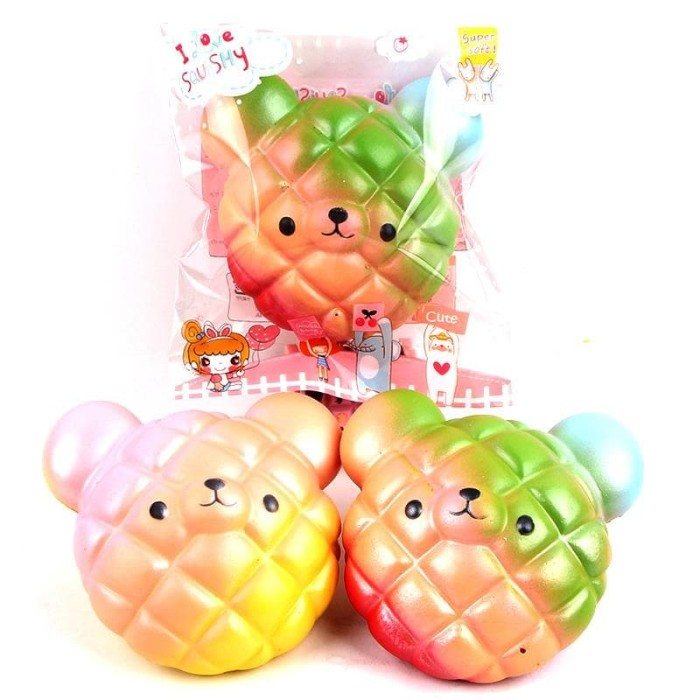 SQUISHY LICENSED BISKUIT BERUANG 10CM SE054 BY SUNNY SQUISHY