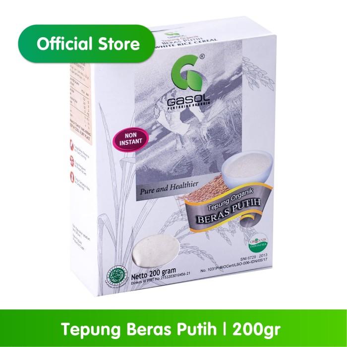 Foto Produk GASOL Organik Tepung Beras Putih 200Gr / 200 Gr / Makanan Bayi dari Gasol Organik Indonesia