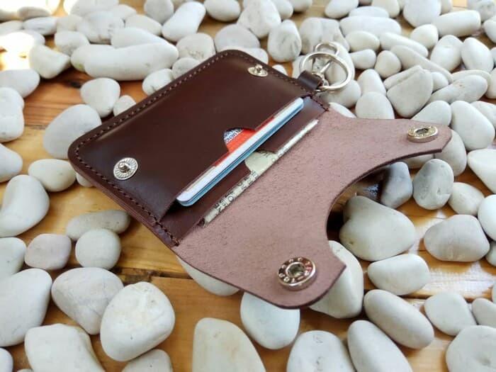 Foto Produk Dompet stnk kulit gantungan kunci kulit mobil/motor asli kulit sapi dari wadah90
