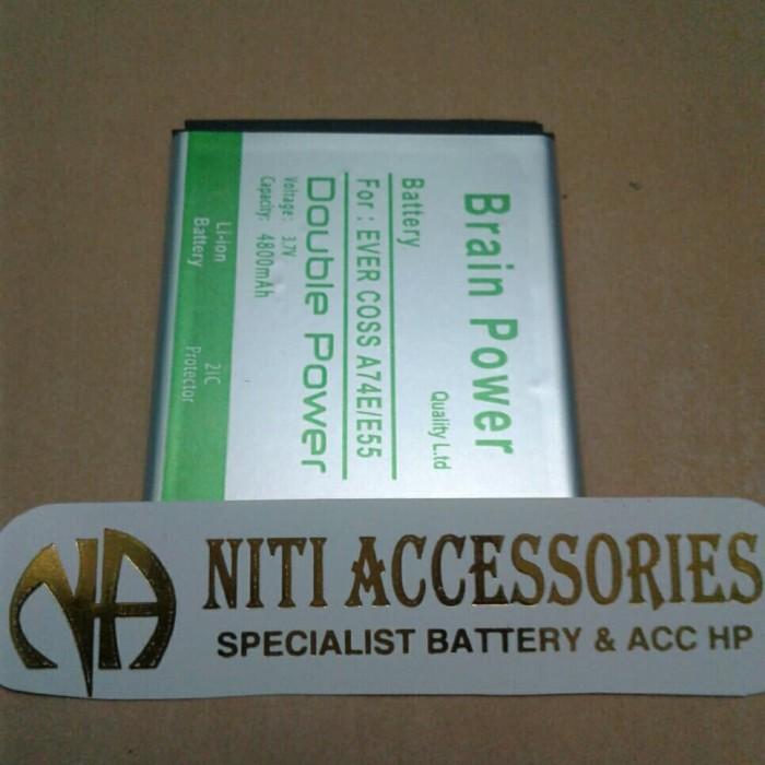 ... harga Baterai batre battery evercoss a74e / e55 double ic brain power Tokopedia.com