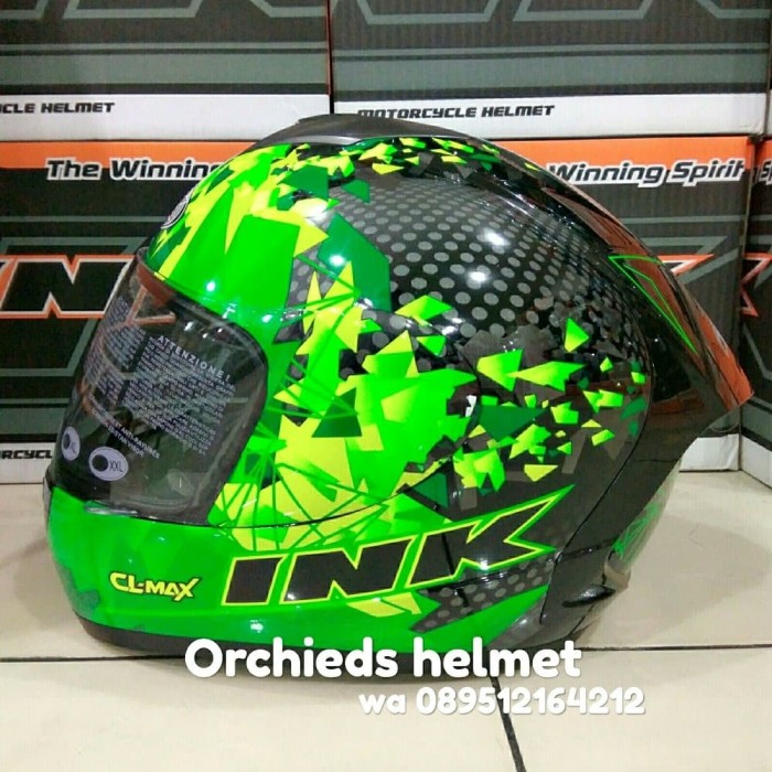 Jual Helm Ink Cl Max Seri 6 Black Green Fluo Limited Edition Harga Rp 655.200